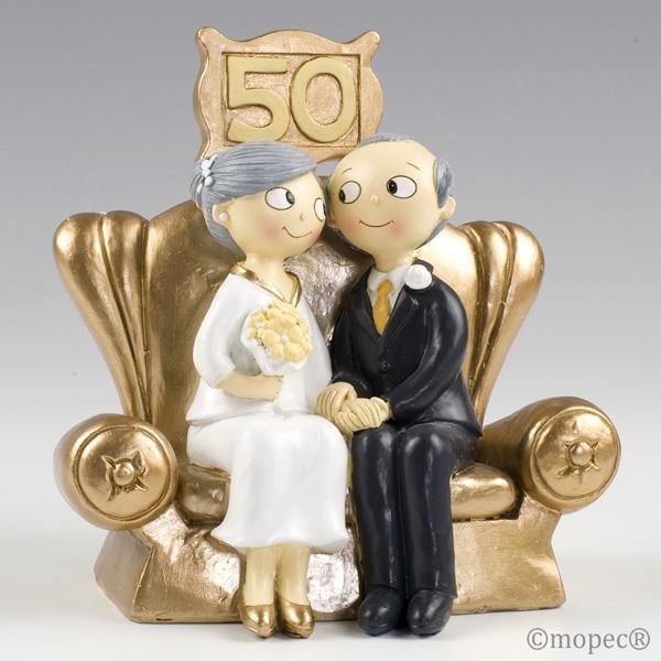 Detalle boda figura tarta bodas de oro