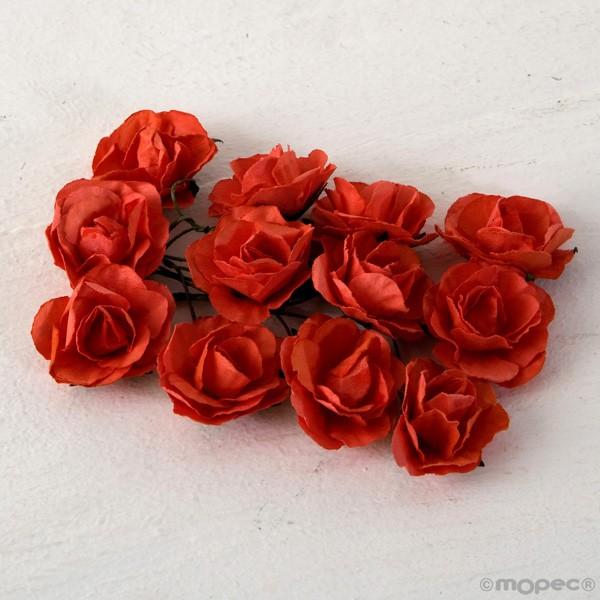 Rosa papel coral