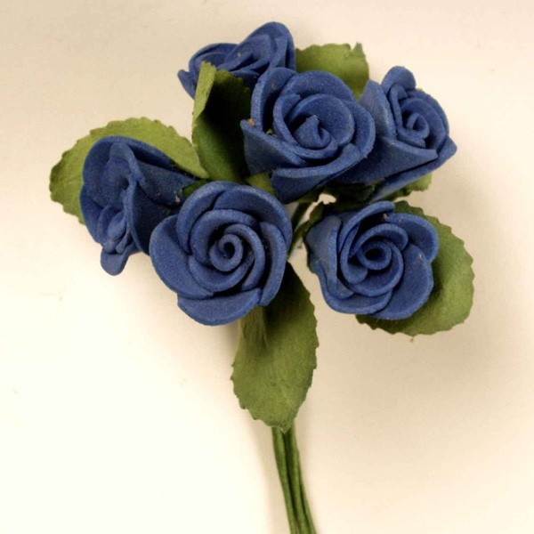 Rositas foam azul marino pomo - Lote de 12