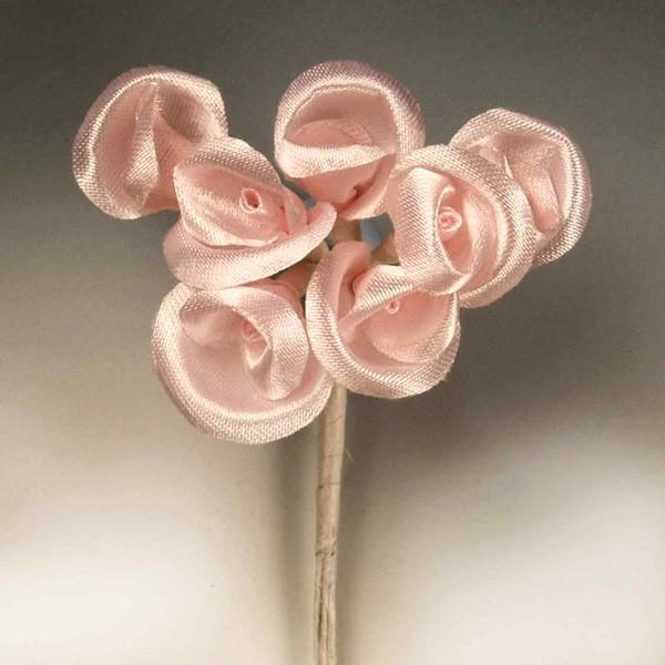 Capullitos de seda rosa - Lote de 12