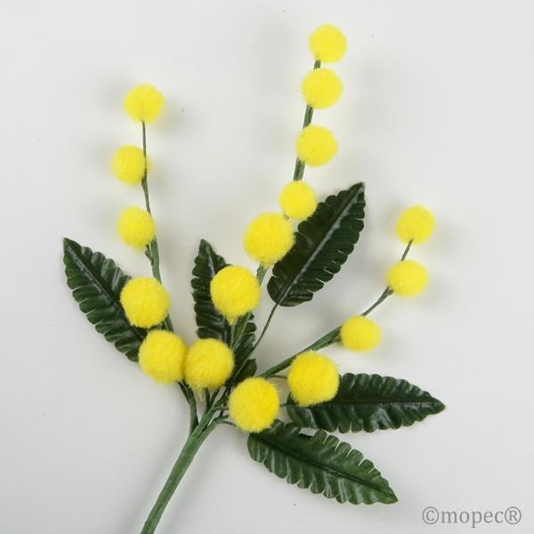Flor mimosa 22cm.,mín.12 - Lote de 12