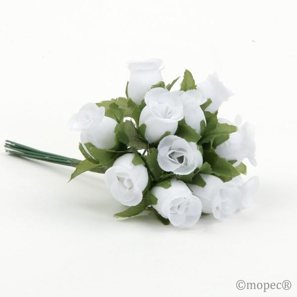 Ramito rosas blancas - Lote de 12