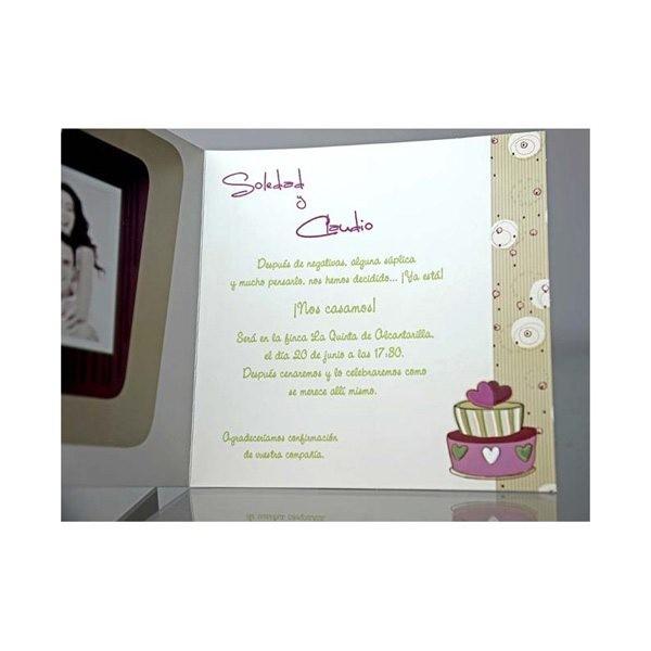Invitacion de boda original calendario