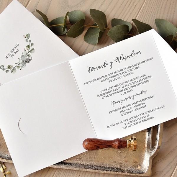Invitación de boda almudena