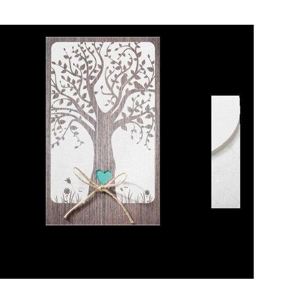 Invitación de boda creativa árbol