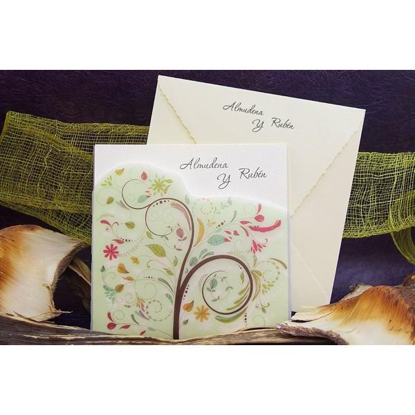Invitación boda creativa motivo primavera