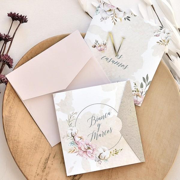 Invitación de boda bianca
