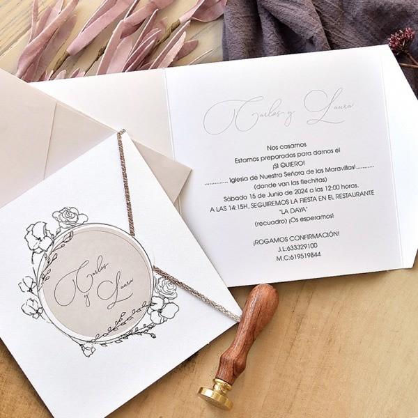 Invitación de boda boceto