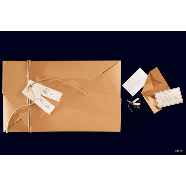 Invitacion boda original carton