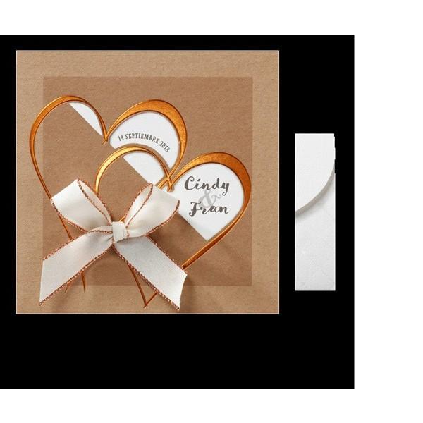 Invitación de boda romántica corazón con ventana
