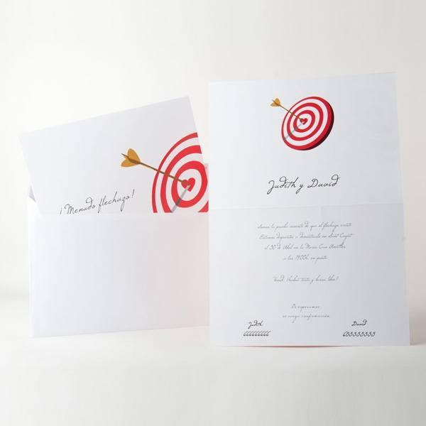 Invitación de Boda original diana corazon