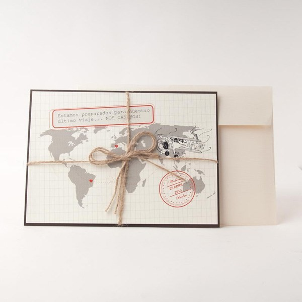 Invitación de Boda creativa mapa