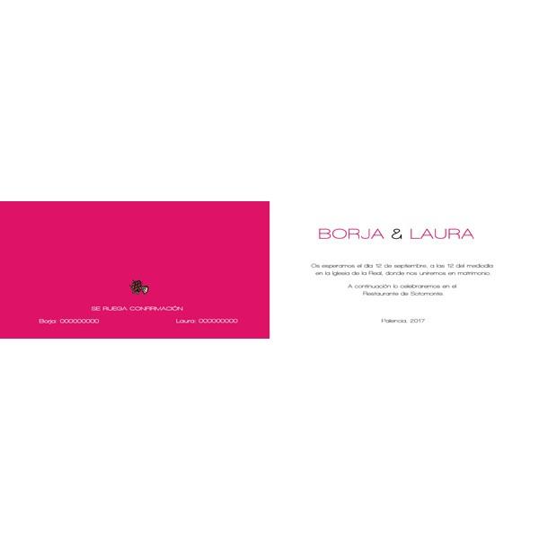 Invitación de Boda original portada rosa