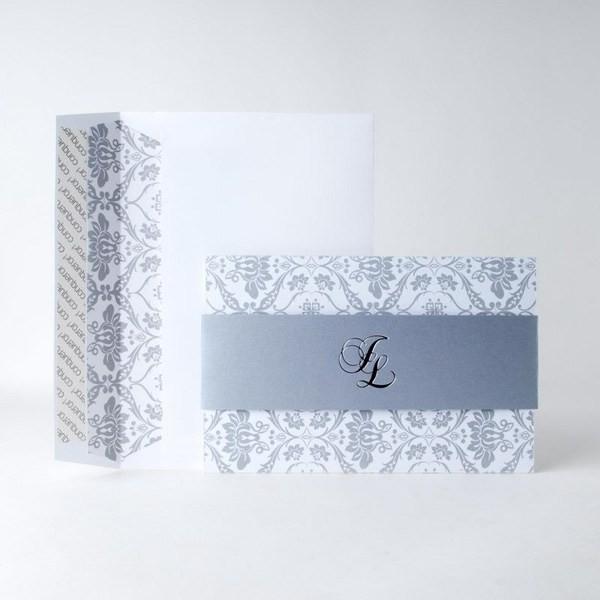 Invitación de Boda original vitola gris