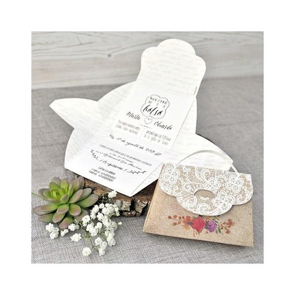 Invitación de boda creativa maletita