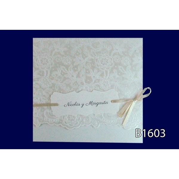 Invitacion boda vintage estampados