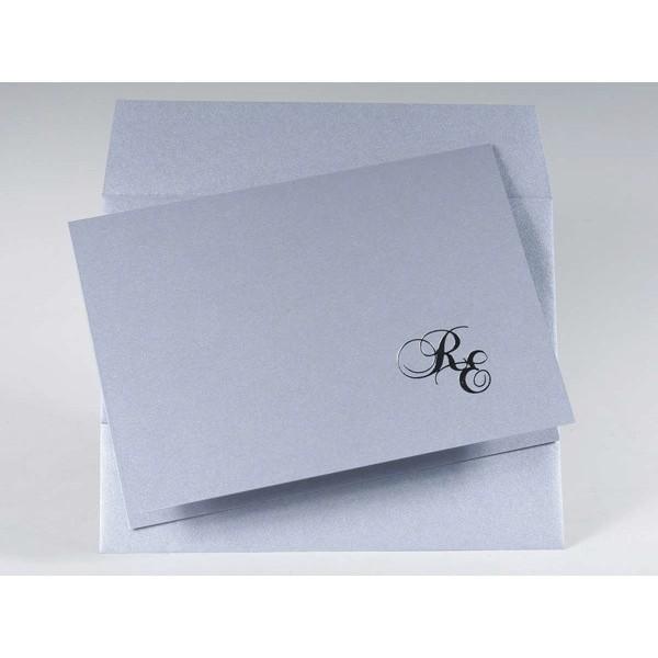 Invitación de Boda original firma iniciales