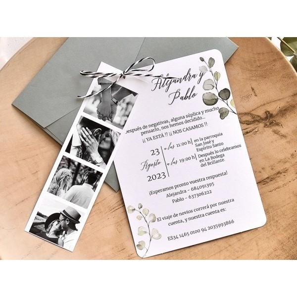 Invitación de boda fotos