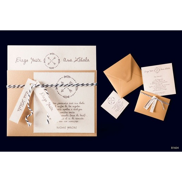 Invitacion boda creativa con funda