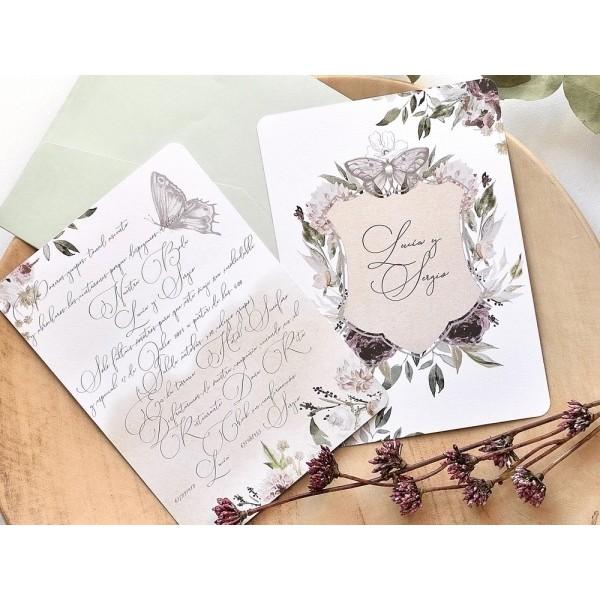 Invitación de boda lucia