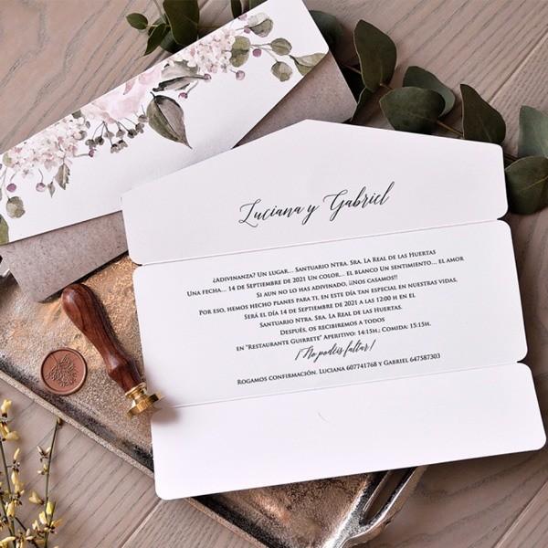 Invitación de boda luciana