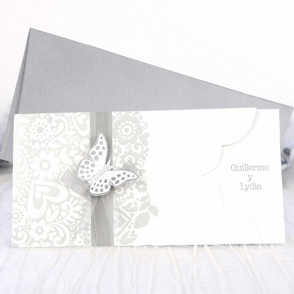 Invitacion de boda original mariposa