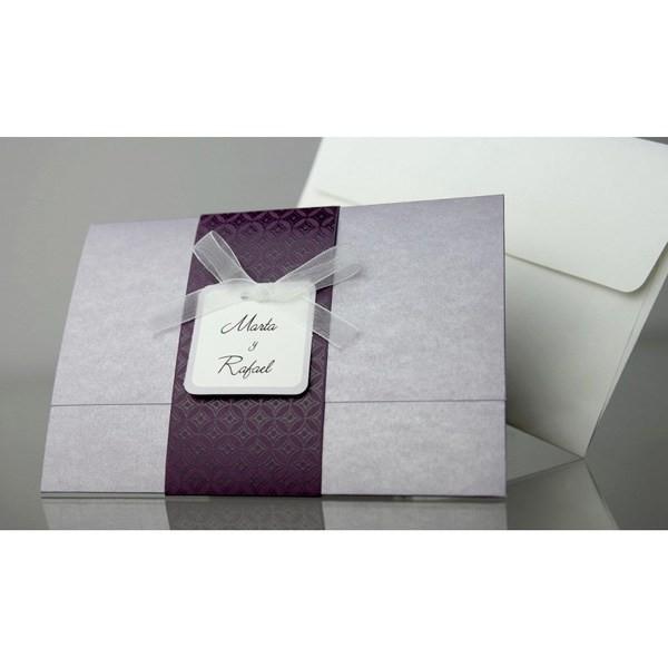 Invitacion de boda original cenefa
