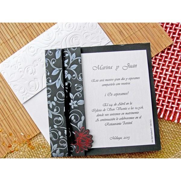 Invitacion de boda original carta