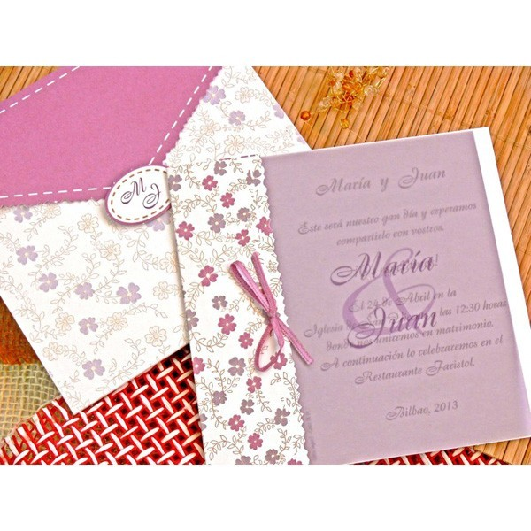 Invitacion de boda original rosita