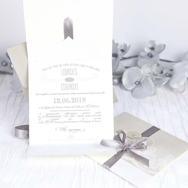 Invitacion de boda original en forma de carta