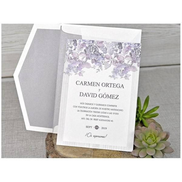 Invitación de boda original lisa