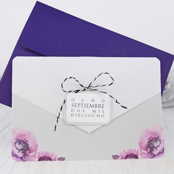 Invitacion de boda original etiquetada