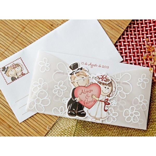 Invitacion de boda romantica amorosa