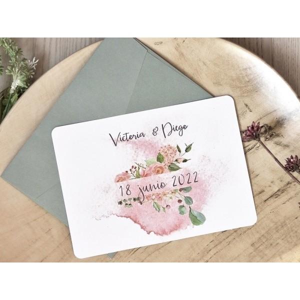 Invitación de boda victoria