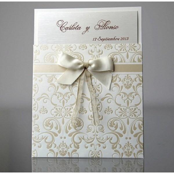 Invitación de boda vintage original
