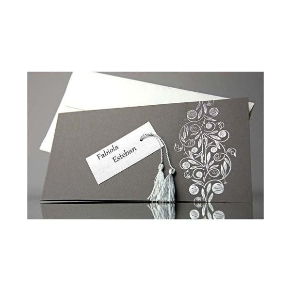 Invitacion de boda original borla