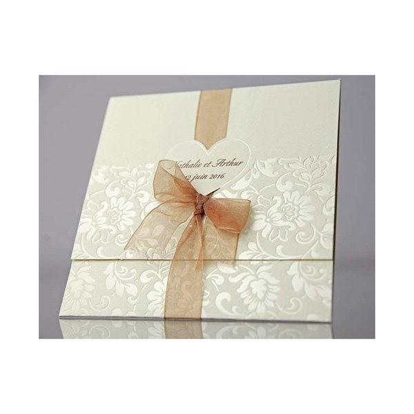 Invitación de boda original lacito regalo