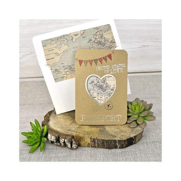 Invitación de boda creativa corazón