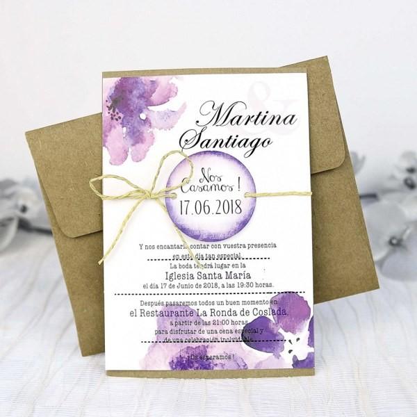 Invitacion de boda original flayer