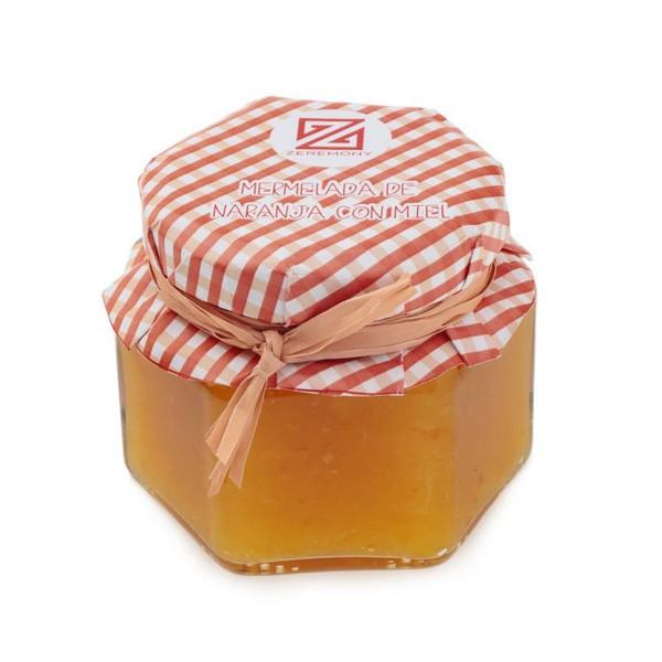 Detalle comunión tarro mermelada de naranja con miel de romero