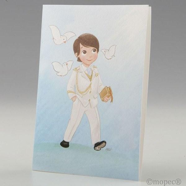 Portafotos comunión niño con traje - lote 25 unidades
