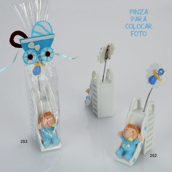Recuerdo para Bautizo bebe tobogan azul