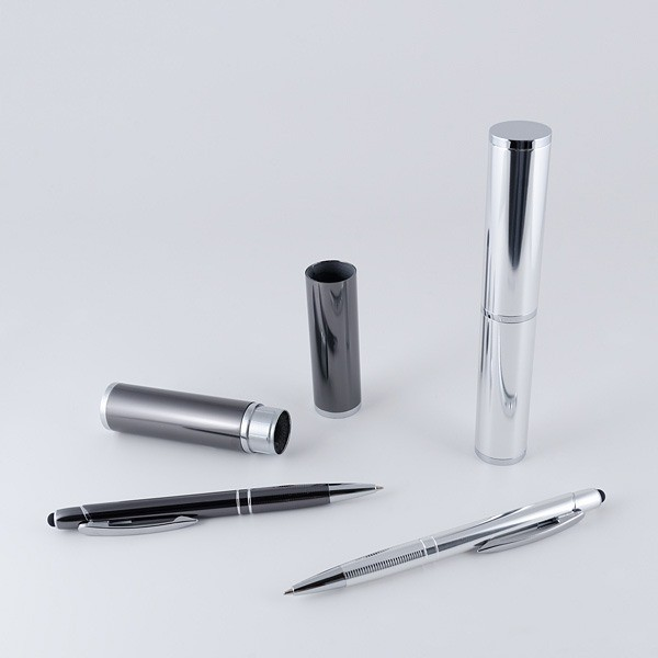 Recuerdo para Boda set bolígrafo puntero táctil aluminio
