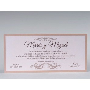 Invitación Boda original rectangular