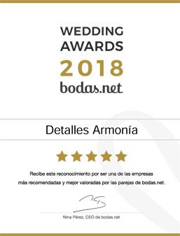 Detalles Armonía Premio 2018